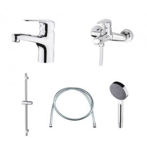 Набор смесителей Devit Giran 1623190128SP (для раковины, для ванны, душевой комплект)