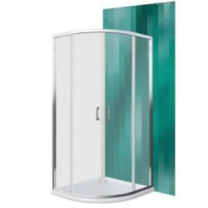 Душевая кабина Koller Рool LLR2/800 Brillant/Transparent полукруглая